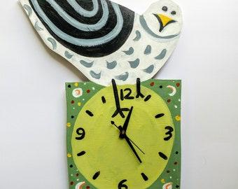 Handpainted Gull Clock #4
