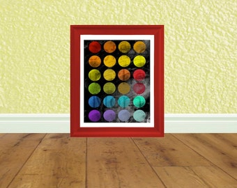Printable Pop Art - Art Print - Digital File - Instant Download - Party Decorations - Rainbow