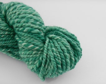 Handspun wool , green