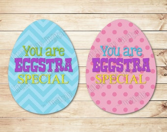 Easter bag tags etsy instant download you are eggstra special easter gift tags 25x35 negle Gallery