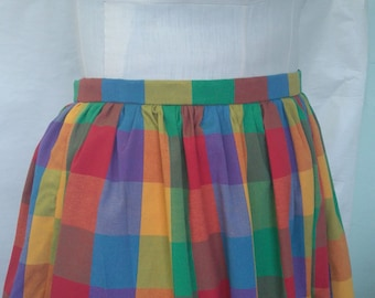 NEW! Multicolour Madras Check Skirt PLUS SIZE 18 20 22 24 26 28 30