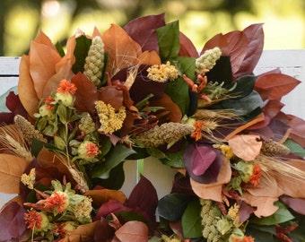 "Fall Harvest Wreath, 16-18"",  Fall Door Wreath, preserved wreath,  fall wreath, harvest, autumn wreath, fall decor, Thanksgiving Wreath"