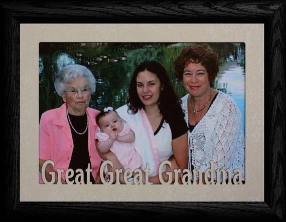 5x7 JUMBO ~ Great Great Grandma/Grandpa Photo Frame ~ Holds a 5x7 ...