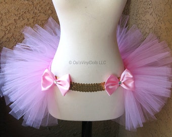 Light Pink Gold Open in the front Rave TuTu, Half TuTu, Bustle, Adult Tulle TuTu Skirt, DanceWear