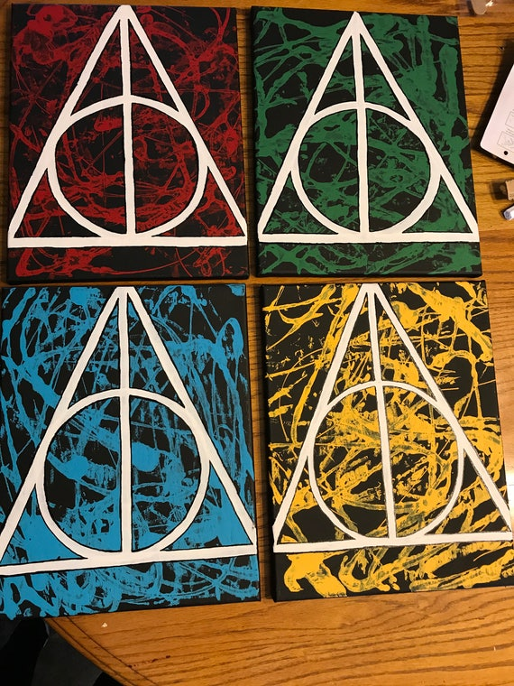 Deathly Hollows Symbol Painting