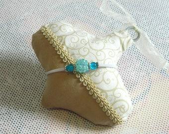 bracelet White Pearl buna Kit valou turquoise