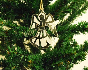Bauble Christmas Decoration Angel 3mm Acrylic Perspex®