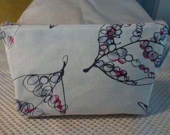 Zipper Pouch with bottom boxed corners