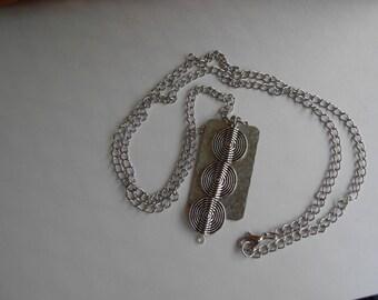 Spiral Lentil Necklace