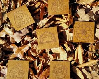 Avatar Ang/Korra Laser Cut Wood Coaster (4 or 6)