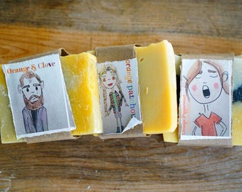 Orange and Clove Essential Oil Cold Process Soap (vegan