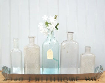 """Vintage Apothecary Bottle Collection """"Sea Isle"""""""
