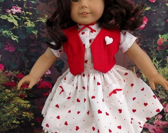 Fun Valentine/Spring outfit for 18 inch dolls