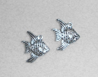 Silver Fish  Charms
