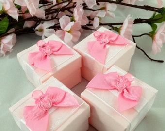 25 Pink favor box, Baby Shower