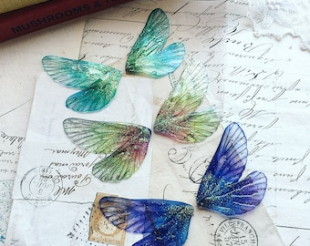 NEW Set of three mixed colour rainbow faerie wings