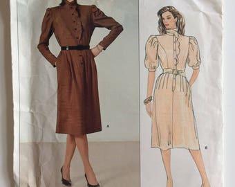 Vintage 1980s Vogue Paris Original sewing pattern 1184 - Guy Laroche Misses' dress - size 14