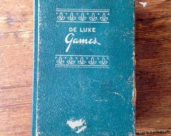 1960's Era De Luxe Games Album II, Book Shelf Mini Games. Chess, Asia (Parcheesi), Dominoes, Acey - Duecy (backgammon). De Luxe Games Corp