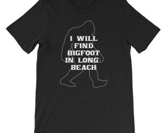 I will find Bigfoot shirt Yeti or Sasquatch Long Beach