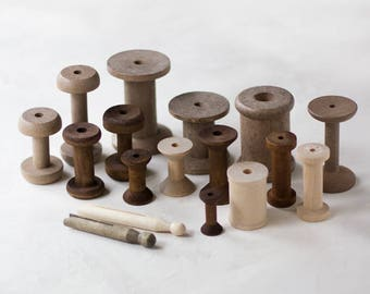 Empty Wooden Spool or Vintage Style Clothespins