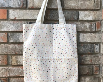 Confetti Dots Market Tote Bag - Monogrammed Tote Bag - Personalized Tote Bag - Hostess Gift - Bridesmaid Gift - Birthday Gift - Custom Gift