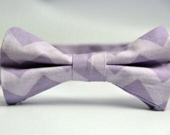 Boy's Bowtie Lavender Chevron Bow Tie for Children