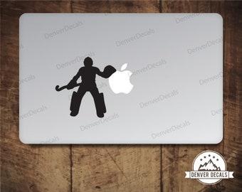 Field Hockey Goalie Macbook Sticker Field Hockey Goalie Mac Decal Computer decal 11 13 15 17