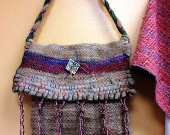 Alpaca Hand Woven Messenger Bag
