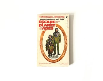 Vintage 1970s Escape from the Planet of the Apes by Jerry Pournelle Sci Fi Science Fiction Paperback Softcover Novel Book Classic