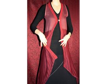 Long Bohemian style asymmetrical vest size L