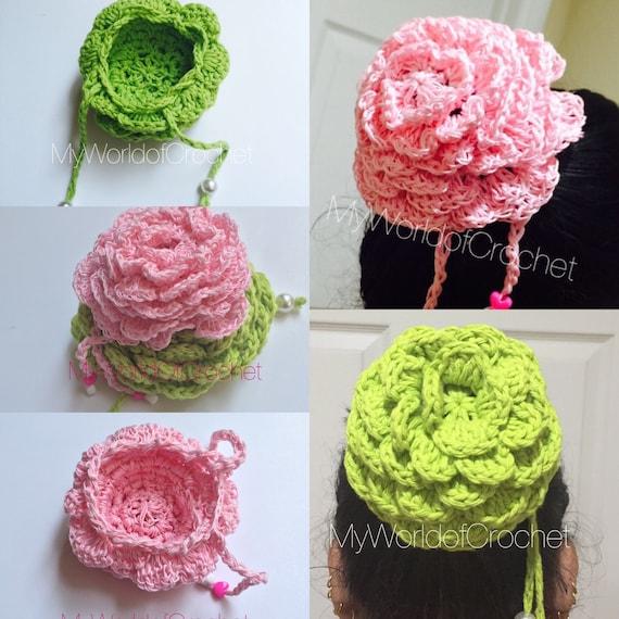 Crochet Bun Cover Pattern Ballet, Dance, Bun Holder, Horse Show Hair ...