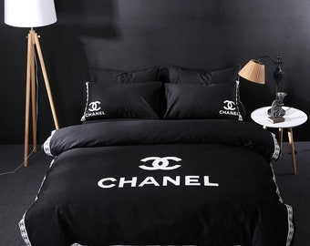 Coco Chanel inspired embroidered  bedding set