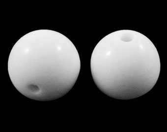 White Acrylic Beads - 6mm - Set of 200 - #RB164