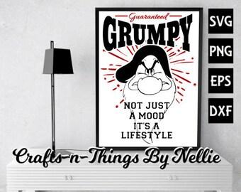 Grumpy not just a mood SVG