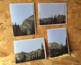 Spruce & Ridge Landscape Pack of 4 Blank Note Cards