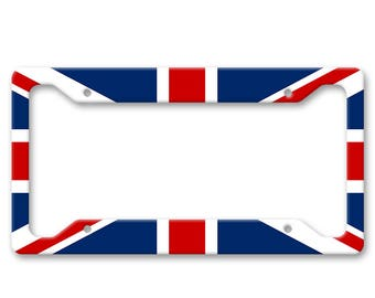 England - UK Flag - United Kingdom - Auto Vanity License Plate Frame - LP1469