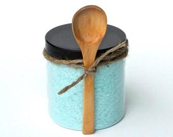 Fizzing Bath Salt, Fizzy Bath Soak, Powdered Bath Bomb, Alternative Bath Bomb, Spa Bath, Therapeutic Bath, Aromatherapy Spa, Wood Spoon