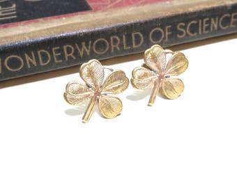 Raw Brass Clover Cuff Links - Four Leaf Clover Cufflinks - Wedding Cuff Links - Bridal Party - Shamrock - St. Patrick's Day St Patty's Day