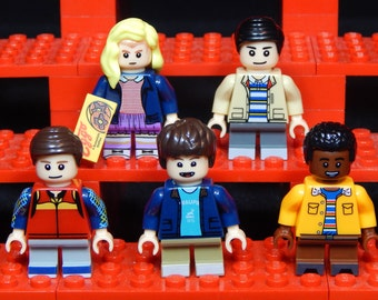 Stranger Things Set Of 5 Minifigs Mike Eleven Dustin Lucas Will Netflix Building Block Toy