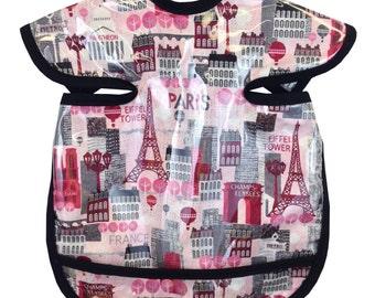 Hot Pink Paris Apron Bib