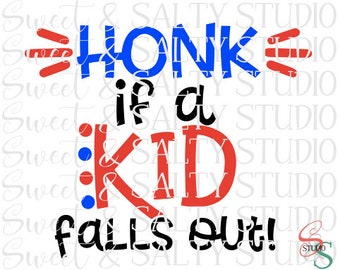 honk if a kid falls out digital file