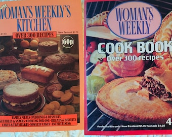 Set of Two 1970-80s Recipe Books From Woman's Weekly's Kitchen. OVER 600 RECIPES FROM 1982