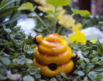Fairy Garden Miniature Beehive Honey Bee Comb