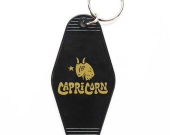 Capricorn Key Tag - Black