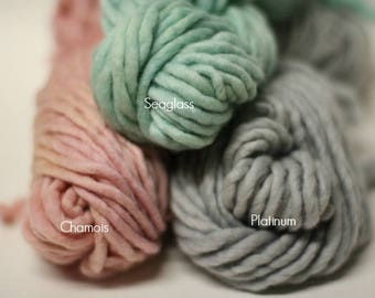 sp44 Single Ply Bulky Chunky Merino Yarn Hand Dyed Mini Skein