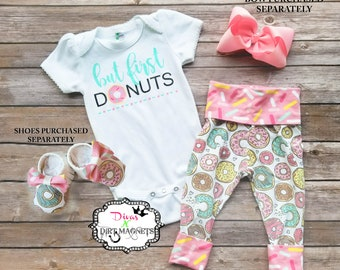 But First Donuts Outfit - Donut 1st Birthday Outfit - Grow With Me Donut Outfit - Sprinkles Donut Outfit