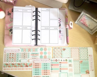Planner Insert Sticker Kit (Personal- Vertical)- Filofax, Kikki. K and other personal planners.