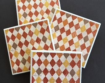 Fall Coasters ~ Autumn Coasters ~ Ceramic Tile Coasters ~ Fall Decor ~ Autumn Decor ~ Coaster Set ~ Drink Coasters ~ Decorative Tiles
