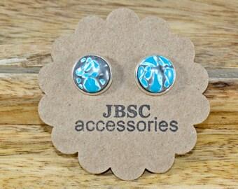 Gray Marble Earrings, Graffiti earrings, Urban earrings, Silver earrings, Gray earrings, Urban Jewelry, Marble Earrings, Cool Jewelry