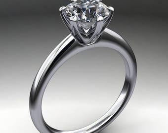 naomi ring - 1 carat Forever One moissanite engagement ring